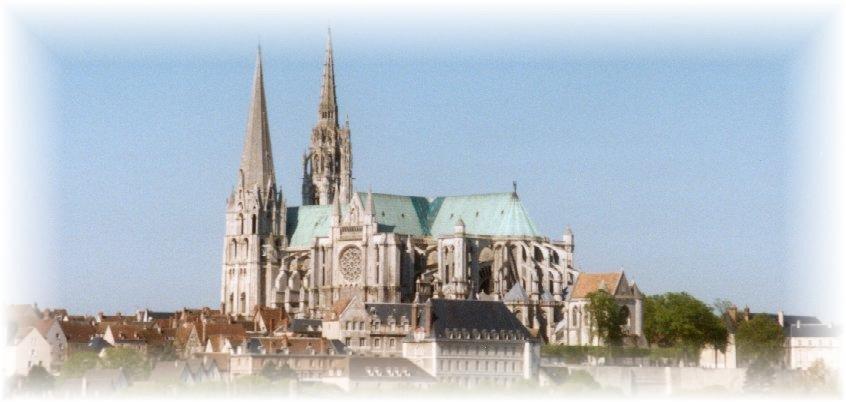 Vue de la cathédrale de Chartres